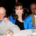 Don with Jackie Collins and Sidney Poitier.