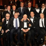 "Don with Marty Scorsese, Robert DeNiro, Jerry Seinfeld, Jon Stewart, Nathan Lane, Regis Philbin, Brian Williams, David Letterman, Tracy Morgan and Johnny Depp at ""One Night Only: An All-Star Comedy Tribute to Don Rickles"" May, 2014 at the Apollo Theater, New York."