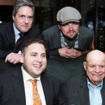 Brad Grey (Chairman & CEO of Paramount Pictures), Leonardo DiCaprio, Jonah Hill and Don